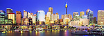 Australia Panorama - Sunset over Sydney, New South Wales, Australia. <br /> <br /> Image taken on large format panoramic 6cm x 17cm transparency. Available for licencing and printing. email us at contact@widescenes.com for pricing.