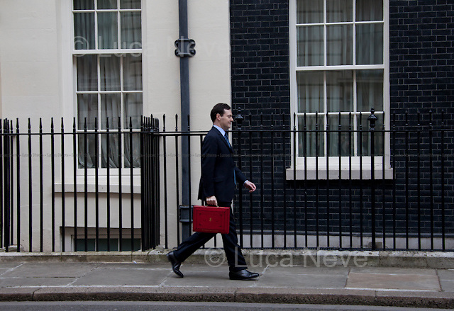 """""""White & Black"""". George Osborne, British Chancellor of the Exchequer.<br /> <br /> For more pictures on this event click here: <a href=""""http://bit.ly/OuExdX""""> http://bit.ly/OuExdX</a>"""
