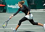 April 8,2018:   Madison Keys (USA) loses to Kiki Bertens (NED) 6-4, 6-7, 7-5, at the Volvo Car Open being played at Family Circle Tennis Center in Charleston, South Carolina.  ©Leslie Billman/Tennisclix/CSM