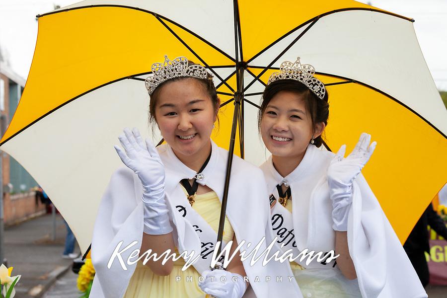 Asian Princesses, Sumner Daffodil Festival and Parade 2019, Sumner, Washington.