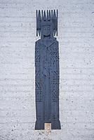 Eystein Kirche in Hjerkin.<br /> Die Kirche wurde 1969 am Olavsweg am Dovrefell erbaut und soll an den norwegischen Koenig Eystein Magnusson (1103 - 1123) erinnern, der auf einem Holzschnitt an der Rueckfassade zu sehen ist.<br /> Der Olavsweg ist der bekannteste Pilgerweg in Skandinavien und wurde 2010 zum europaeischen Kulturweg erklaert.<br /> 16.1.2020, Hjerkin<br /> Copyright: Christian-Ditsch.de<br /> [NUR FUER REDAKTIONELLE ZWECKE! Werbung nur auf Anfrage beim Fotografen.Inhaltsveraendernde Manipulation des Fotos nur nach ausdruecklicher Genehmigung des Fotografen. Vereinbarungen ueber Abtretung von Persoenlichkeitsrechten/Model Release der abgebildeten Person/Personen liegen nicht vor. NO MODEL RELEASE! Don't publish without copyright Christian-Ditsch.de, Veroeffentlichung nur mit Fotografennennung, sowie gegen Honorar, MwSt. und Beleg. Konto: I N G - D i B a, IBAN DE58500105175400192269, BIC INGDDEFFXXX, Kontakt: post@christian-ditsch.de<br /> Bei der Bearbeitung der Dateiinformationen darf die Urheberkennzeichnung in den EXIF- und  IPTC-Daten nicht entfernt werden, diese sind in digitalen Medien nach §95c UrhG rechtlich geschuetzt. Der Urhebervermerk wird gemaess §13 UrhG verlangt.]
