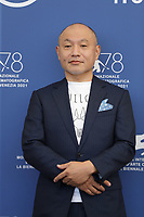 """VENICE, ITALY - SEPTEMBER 09: Director Masaaki Yuasa attends the photocall of """"Inu-Ho"""" during the 78th Venice International Film Festival on September 09, 2021 in Venice, Italy. <br /> CAP/GOL<br /> ©GOL/Capital Pictures"""