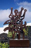 Europe/Espagne/Canaries/Lanzarote/Env de Teguise/Taro de Tahiche : La fondation César Mantique dans l'ancienne demeure de l'artiste - Sculpture