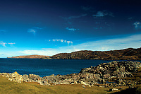 Scourie Bay, Scourie from the North Coast 500, Sutherland, Northwest Highlands