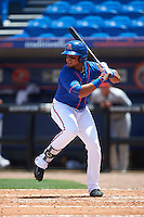 St. Lucie Mets third baseman Jhoan Urena (13) at bat during a game against the Brevard County Manatees on April 17, 2016 at Tradition Field in Port St. Lucie, Florida.  Brevard County defeated St. Lucie 13-0.  (Mike Janes/Four Seam Images)