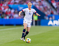PARIS,  - JUNE 16: Emily Sonnett #14 during a game between Chile and USWNT at Parc des Princes on June 16, 2019 in Paris, France.