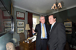 David Cameron, the Conservative Party leader with Councillor Anthony Jenkins , the Lord Mayor of Carmarthen during his visit to South Wales today..