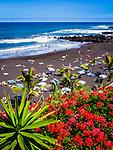 Spanien, Kanarische Inseln, Teneriffa, Puerto de la Cruz: Playa Jardin | Spain, Canary Islands, Tenerife, Puerto de la Cruz: Playa Jardin
