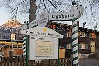 Restaurant Königliches Jagdhaus in Oberstdorf im Allgäu, Bayern, Deutschland<br /> Restaurant Königliches Jagdhaus in Oberstdorf, Allgäu, Bavaria,  Germany