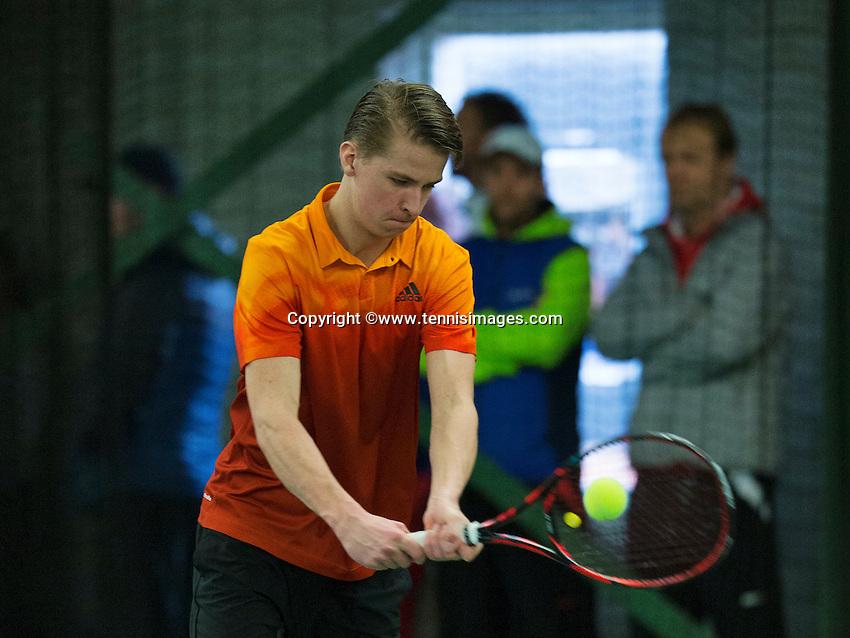 Rotterdam, The Netherlands, March 19, 2016,  TV Victoria, NOJK 14/18 years, Nick Broekhof (NED)<br /> Photo: Tennisimages/Henk Koster