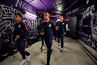 ORLANDO, FL - NOVEMBER 15: Nick Lima and Tyler Boyd #21 of the United States walks through the tunnel out to the field during a game between Canada and USMNT at Exploria Stadium on November 15, 2019 in Orlando, Florida.