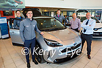 Launching new front Yaris Cross Hybrid in Kellihers Toyota Tralee on Monday. L to r: Niall Sheehan, Tommy Hayes, Jack Watkinson, Tom O'Connor and Tim Kelliher.