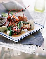 """Europe/France/Bretagne/29/Finistère/Roscoff: Kig Ha Farz de homard - Recette de Loïc Le Bail du restaurant """"Le Yachtman"""" de l'hotel Brittany"""