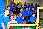 "Drogheda United team in the ""Play Zone"" during the sponsorship photoshoot at Scotch Hall on Saturday 14th March 2015.<br /> Picture:  Thos Caffrey / www.newsfile.ie"