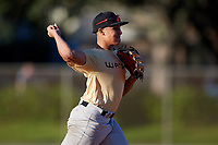 Aaron Perez during the WWBA World Championship at the Roger Dean Complex on October 19, 2018 in Jupiter, Florida.  Aaron Perez is a shortstop from Bronx, New York who attends All Hallows High School and is committed to Maryland.  (Mike Janes/Four Seam Images)