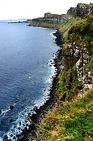 Isle of Skye, Kilt Rock general view of the cliff<br /> Scotland May 8th - 19th. Trip across Scotland<br /> Foto Samantha Zucchi Insidefoto