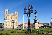 Barocke Fredrikskyrkan (Friedrichskirche) am  Stortorget in Karlskrona, Provinz Blekinge, Schweden, Europa, UNESCO-Weltkulturerbe<br /> Fredrikskyrkan  in Karlskrona, Province Blekinge, Sweden