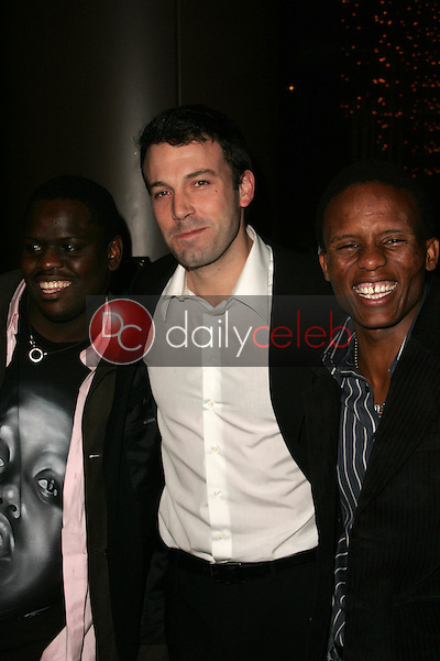 """Archie Khambula with Ben Affleck and Victor Mohale<br />at the Los Angeles Premiere of """"Ithuteng"""". Director's Guild of America, Los Angeles, CA. 11-15-06<br />Dave Edwards/DailyCeleb.com 818-249-4998"""