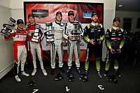 #1: Paul Miller Racing Lamborghini Huracan GT3, GTD: Madison Snow, Bryan Sellers, #23: Heart Of Racing Team Aston Martin Vantage GT3, GTD: Ross Gunn, Roman De Angelis, #14: VasserSullivan Lexus RC F GT3, GTD: Jack Hawksworth , Aaron Telitz