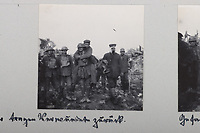 BNPS.co.uk (01202 558833)<br /> Pic: C&TAuctions/BNPS<br /> <br /> Pictured: A light-hearted picture of a man being given a piggyback ride. <br /> <br /> Fascinating previously unseen World War One photos showing the conflict from the German perspective have come to light 103 years on.<br /> <br /> Major Hans Rudloff, a distinguished artillery officer, took hundreds of images of some of the major Western Front battles.<br /> <br /> There are scenes of destruction on the Verdun and at Cambrai, as well as snapshots of captured British soldiers on the Somme in the early days of the German Spring Offensive in March 1918.