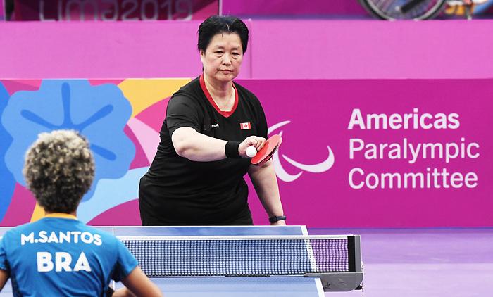 Stephanie Chan, Lima 2019 - Para Table Tennis // Para tennis de table.<br /> Stephanie Chan competes in Para Table Tennis // Stephanie Chan participe en Para tennis de table. 22/08/2019.