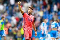 Real Sociedad's Xabi Prieto celebrates the victory in La Liga match. September 10,2017.  *** Local Caption *** © pixathlon<br /> Contact: +49-40-22 63 02 60 , info@pixathlon.de