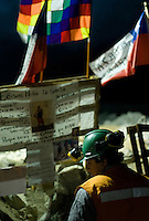 Relatives, friends and rescue team around the mine where 33 miners are trapped in a collapsed tunnel 700 meters under the ground in North of Chile