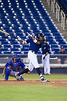 AZL Brewers first baseman Ernesto Wilson Martinez (56) at bat against the AZL Cubs on August 24, 2017 at Maryvale Baseball Park in Phoenix, Arizona. AZL Cubs defeated the AZL Brewers 9-1. (Zachary Lucy/Four Seam Images)