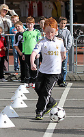 Pictured: Saturday 13 October 2012<br /> Re: Swansea City FC family day out on the grounds of the Liberty Stadium, south Wales.