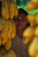 A fruit vendor at Phom Kulen, Cambodia