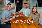 Enjoying the evening in Benners on Friday, l to r: Shane Dunne, Etan O'Brien and Lauren Moriarty