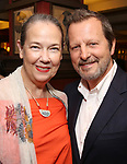 Harriet Harris and Rob Ashford during the Rob Ashford portrait unveiling for the Sardi's Wall of Fame on October 10, 2018 at Sardi's Restaurant in New York City.