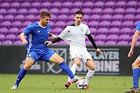 Orlando, Florida - Saturday January 13, 2018: Alan Winn and Paul Marie. Match Day 1 of the 2018 adidas MLS Player Combine was held Orlando City Stadium.
