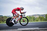 Pernille Mathiesen (DEN)<br /> <br /> Women Elite Time trial from Imola to Imola (31.7km)<br /> <br /> 87th UCI Road World Championships 2020 - ITT (WC)<br /> <br /> ©kramon