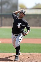 Jhonny Nunez, Chicago White Sox minor league spring training..Photo by:  Bill Mitchell/Four Seam Images.