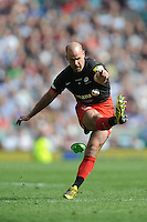Charlie Hodgson of Saracens takes a conversion attempt during the Aviva Premiership Rugby Final between Saracens and Exeter Chiefs at Twickenham Stadium on Saturday 28th May 2016 (Photo: Rob Munro/Stewart Communications)
