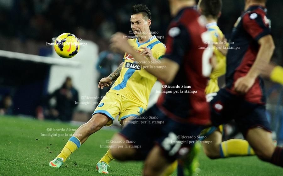 - NAPOLI 25 FEB  -  Stadio San Paolo    Napoli - Genoa<br /> NELLA FOTO: Marek Hamsik