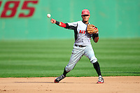 University of Hartford Hawks second baseman Aaron Wilson (2) during a game versus the Boston College Eagles at Pellagrini Diamond at Shea Field on May 9, 2015 in Chestnut Hill, Massachusetts. (Ken Babbitt/Four Seam Images)