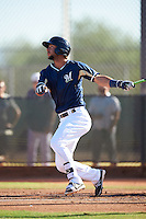 Milwaukee Brewers Wes Wilson (31) during an Instructional League game against the Cincinnati Reds on October 14, 2016 at the Maryvale Baseball Park Training Complex in Maryvale, Arizona.  (Mike Janes/Four Seam Images)