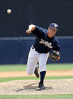 May 13, 2010: Pitcher Brandon Braboy of the Tampa Yankees delivers a pitch during a game at George M Steinbrenner Field in Tampa, FL. Tampa is the Florida State League High Class-A affiliate of the New York Yankees. Photo By Mark LoMoglio/Four Seam Images