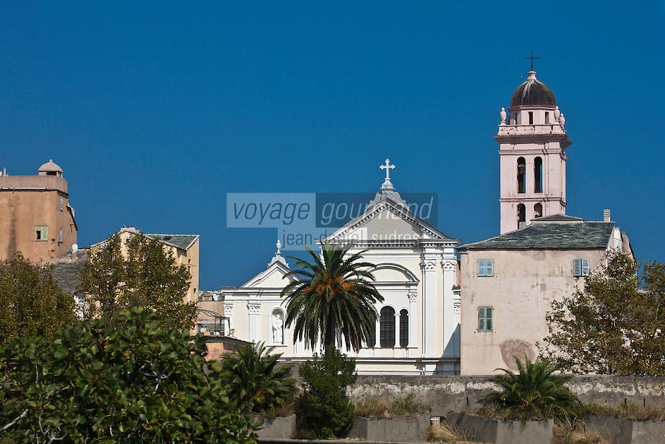 Europe/France/Corse/2B/Haute-Corse/Cap Corse/Nebbio/Bastia: Echauguette et remparts de la Citadelle et la cathédrale Sainte-Marie - XVIIème siècle