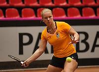 The Netherlands, Den Bosch, 16.04.2014. Fed Cup Netherlands-Japan, Practice, Kiki Bertens (NED)<br /> Photo:Tennisimages/Henk Koster
