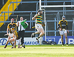 Conor Dorris of Glen Rovers celebrates his goal against Ballyea during their Munster Club hurling final at Thurles. Photograph by John Kelly.