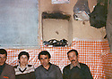 Iraq 1981 In Shene, from 2nd left to right, Hatige Yachar, Mohamed Moktedi and Omar Shekmos  .Irak 1980 A Shene pres de Zahle, 2eme a gauche, Hatige Yachar, puis Mohamed Moktedi et a droite Omar Shekmos