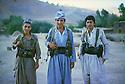Iran 1983 .In the district of Sardasht, peshmergas of Fedayin Khalk.Iran 1983 .Des peshmergas des Fedayin du peuple dans la region de Sardasht.