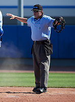 Home plate umpire during an IMG Academy Ascenders game against the Victory Charter School Knights on February 28, 2020 at IMG Academy in Bradenton, Florida.  (Mike Janes/Four Seam Images)