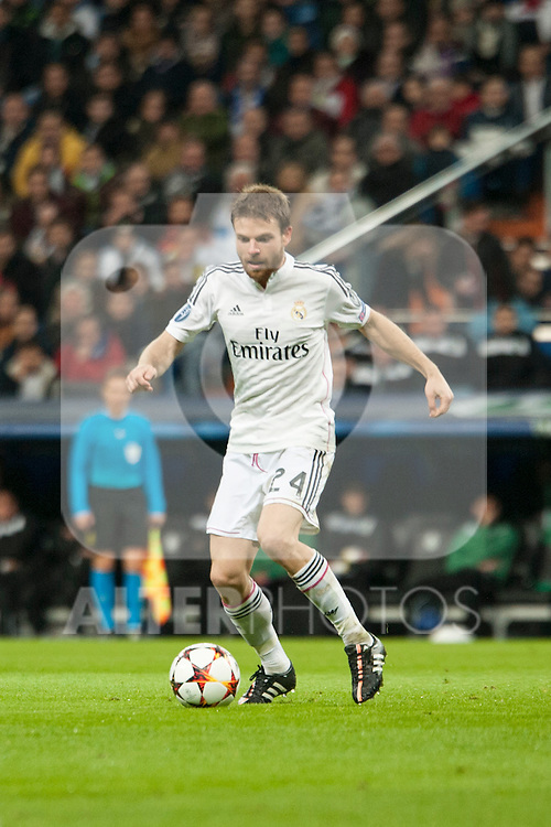 Illarra of Real Madrid during Champions League match between Real Madrid and Ludogorets at Santiago Bernabeu Stadium in Madrid, Spain. December 09, 2014. (ALTERPHOTOS/Luis Fernandez)