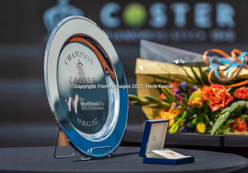 Amstelveen, Netherlands, 10 Juli, 2021, National Tennis Center, NTC, Amstelveen Womans Open, Singles final:  Winners Trophy<br /> Photo: Henk Koster/tennisimages.com