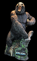 BNPS.co.uk (01202 558833)<br /> AdamPartridge/BNPS<br /> <br /> A statue of King Kong holding Ann Darrow standing above a dinosaur,<br /> <br /> A vast collection of 'weird and wonderful' memorabilia from a music venue that hosted early Beatles gigs has emerged for sale for close to £50,000.<br /> <br /> Lathom Hall in Liverpool was one of the best known clubs on the Merseybeat music scene in the late 1950s and early 1960s.<br /> <br /> Among their regular bands were the Beatles, although at that time they were known as the Silver Beets.<br /> <br /> Since those days the hall has adapted and is now an entertainment venue crammed full of pop culture memorabilia.