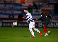 17th February 2021; The Kiyan Prince Foundation Stadium, London, England; English Football League Championship Football, Queen Park Rangers versus Brentford; Ilias Chair of Queens Park Rangers passes the ball into midfield